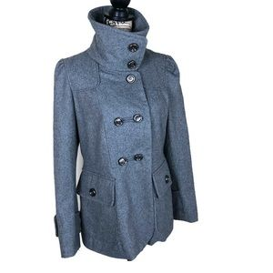 1 Madison Grey Military Inspired Wool Blend Coat L